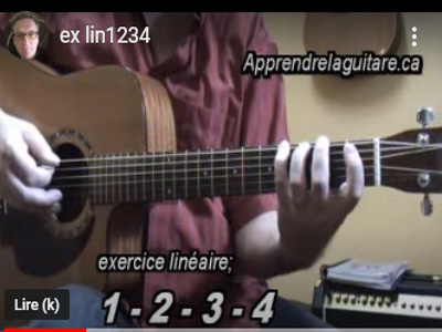 6 exercices linéaires main gauche