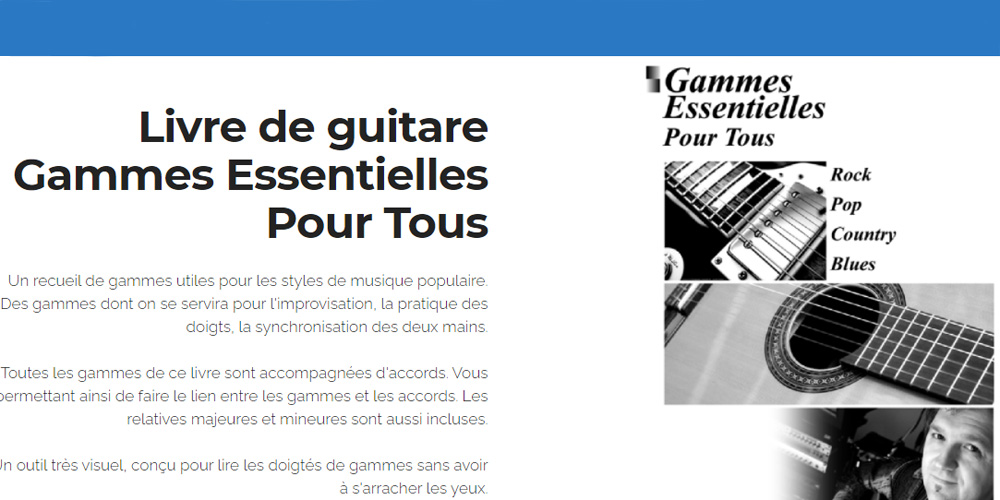 acheter le livre gammes de guitare