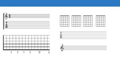 grilles pour guitare